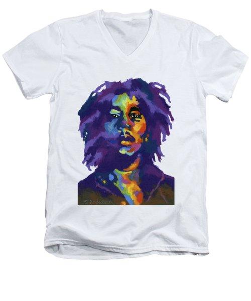 Bob Marley-for T-shirt Men's V-Neck T-Shirt