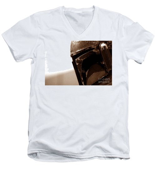 Men's V-Neck T-Shirt featuring the photograph Boba Fett Helmet 33 by Micah May