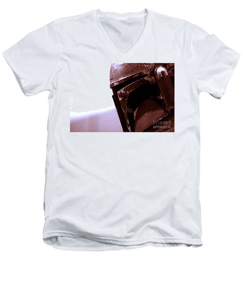 Men's V-Neck T-Shirt featuring the photograph Boba Fett Helmet 34 by Micah May