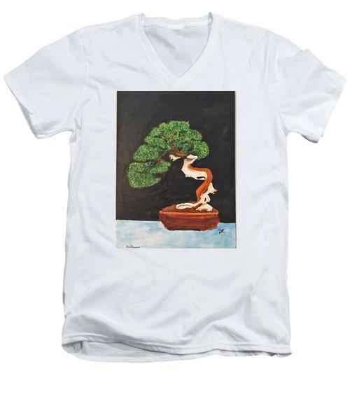 Bonsai-1 Men's V-Neck T-Shirt