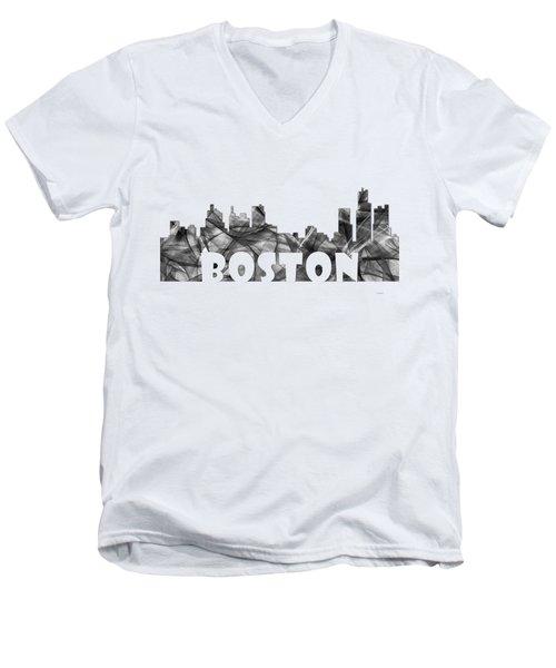 Boston Massachusetts Skyline Men's V-Neck T-Shirt