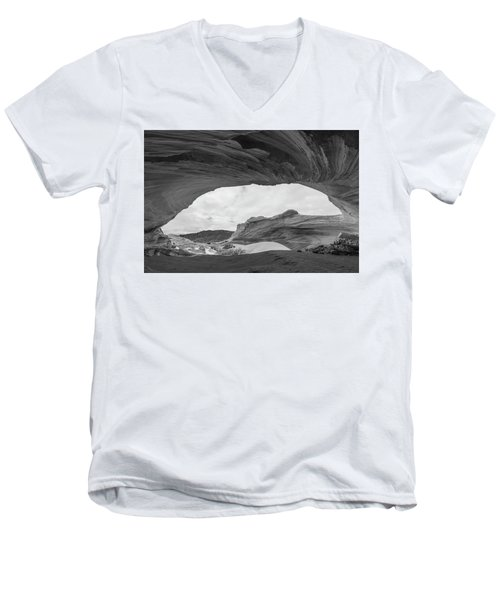 Men's V-Neck T-Shirt featuring the photograph Boundless by Dustin LeFevre