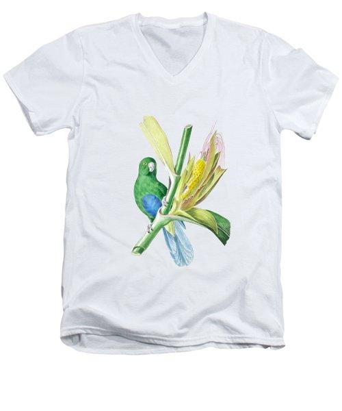 Brazilian Parrot Men's V-Neck T-Shirt by Philip Ralley