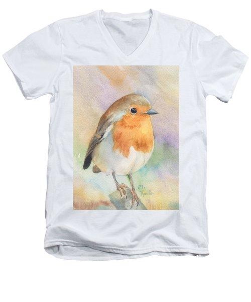 British Robin Men's V-Neck T-Shirt