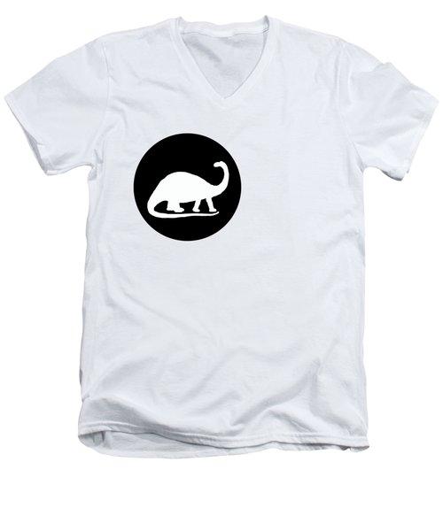 Brontosaurus Men's V-Neck T-Shirt by Mordax Furittus