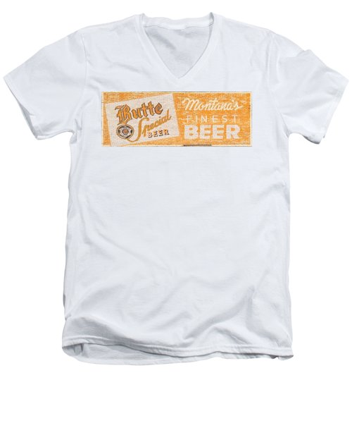 Butte Special Beer Ghost Sign Men's V-Neck T-Shirt