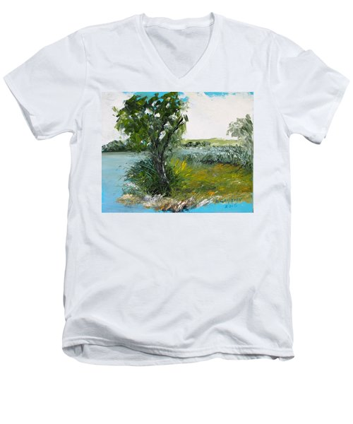 By The Snake River Men's V-Neck T-Shirt