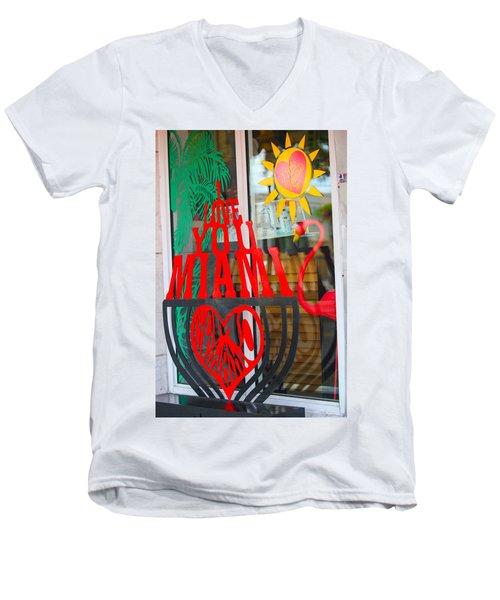 Calle Ocho Men's V-Neck T-Shirt