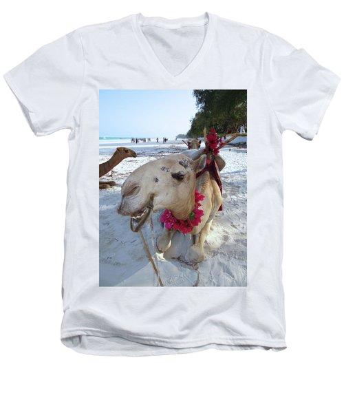 Camel On Beach Kenya Wedding3 Men's V-Neck T-Shirt