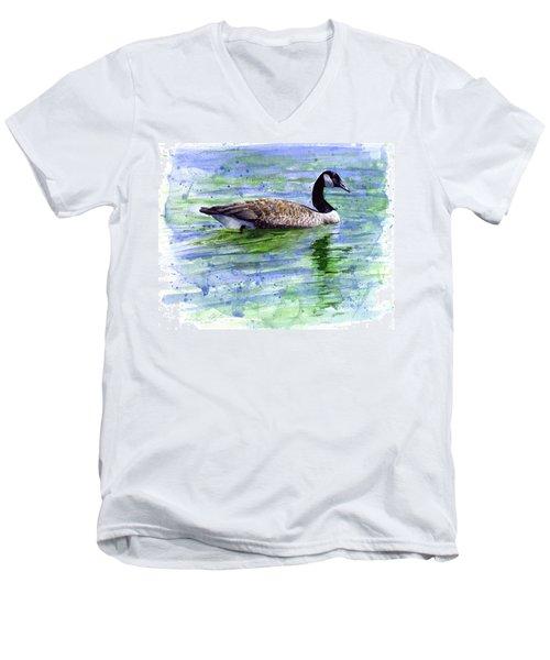 Canada Goose Men's V-Neck T-Shirt by John D Benson