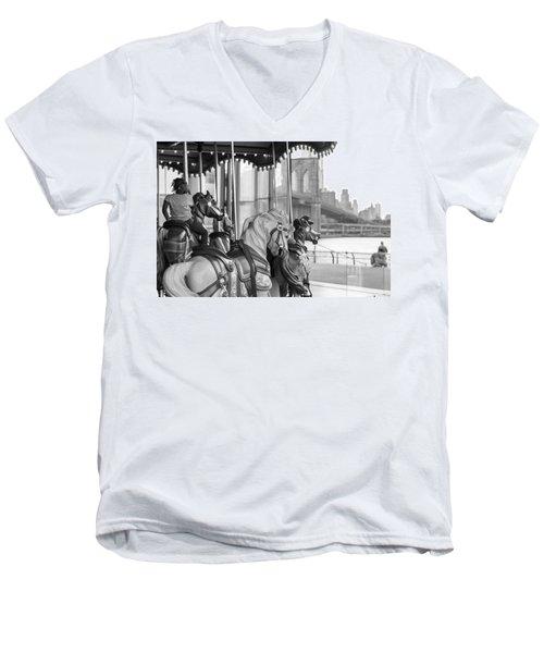 Carrousel Nyc Men's V-Neck T-Shirt