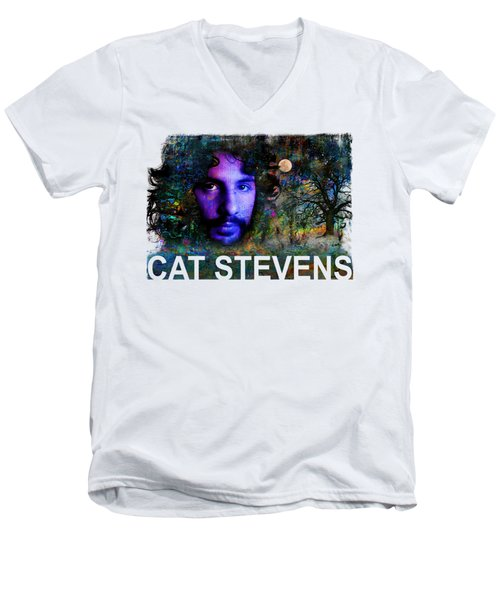 Cat Stevens Men's V-Neck T-Shirt