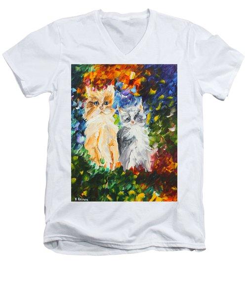 Cats Men's V-Neck T-Shirt
