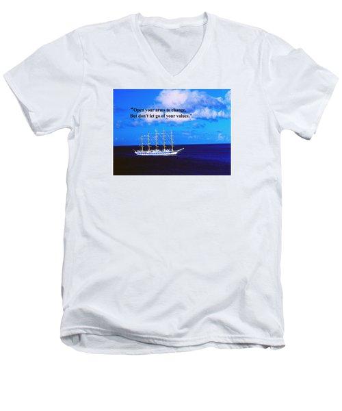 Change Men's V-Neck T-Shirt