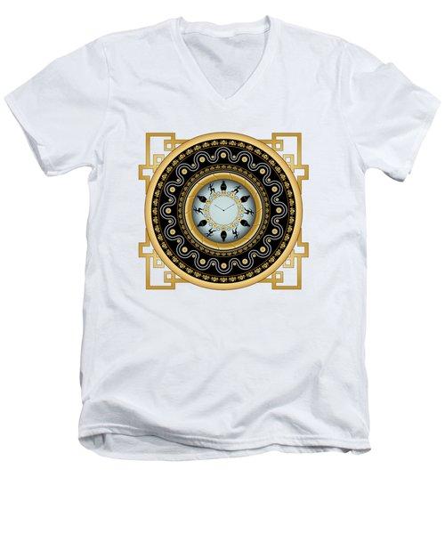 Circularium No 2653 Men's V-Neck T-Shirt