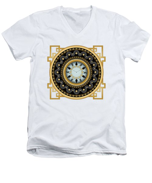 Circularium No 2653 Men's V-Neck T-Shirt