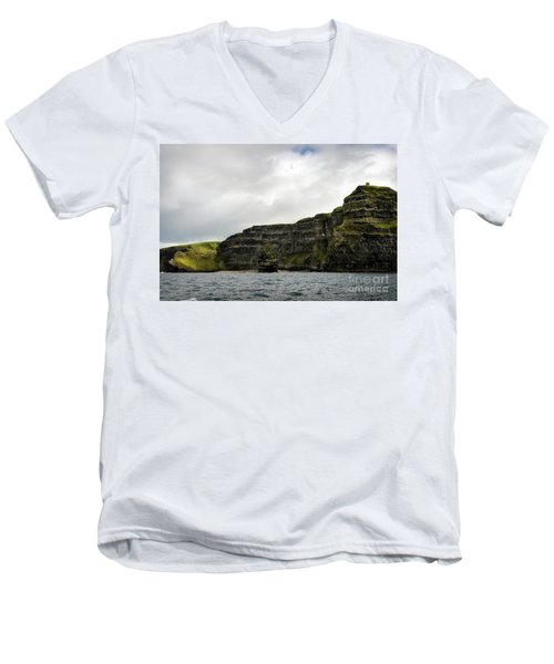 Men's V-Neck T-Shirt featuring the photograph Cliffs Of Moher From The Sea by RicardMN Photography