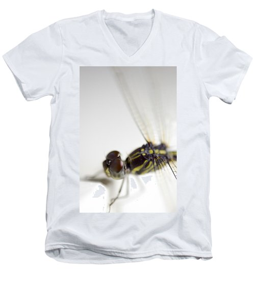 Close Up Shoot Of A Anisoptera Dragonfly Men's V-Neck T-Shirt by Ulrich Schade