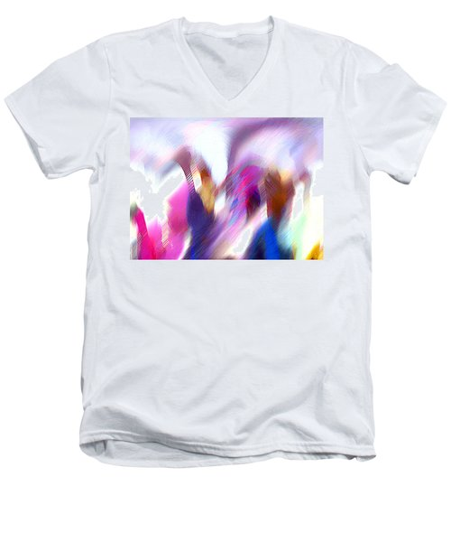 Color Dance Men's V-Neck T-Shirt