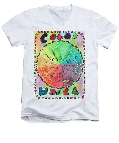 Color Wheel Men's V-Neck T-Shirt