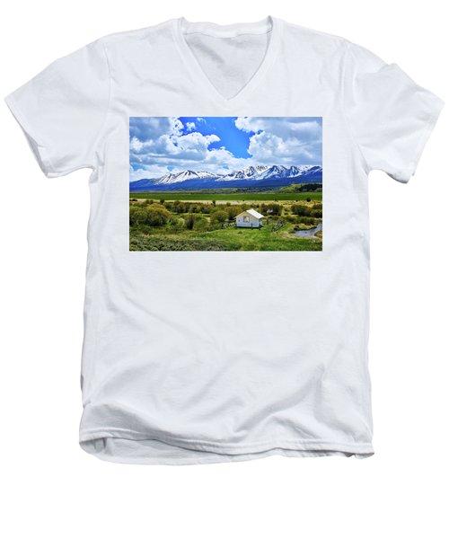 Colorado Mountain Vista Men's V-Neck T-Shirt by L O C