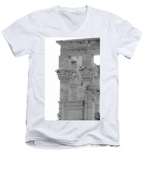 Columns Men's V-Neck T-Shirt by Silvia Bruno