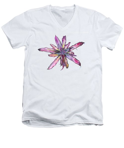 Cryptanthus Tropical Heat Wave Men's V-Neck T-Shirt