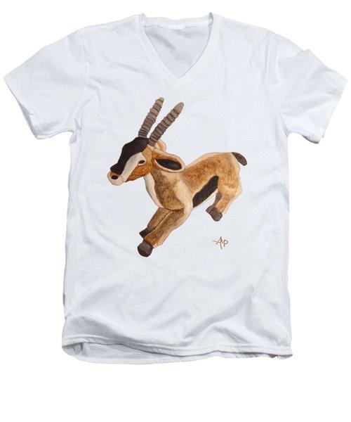 Cuddly Gazelle Men's V-Neck T-Shirt