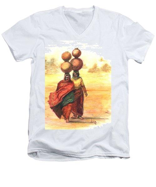 Daily Desert Dance  Men's V-Neck T-Shirt