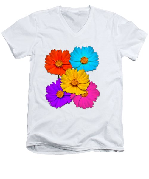 Daisy Pop Men's V-Neck T-Shirt by John Haldane