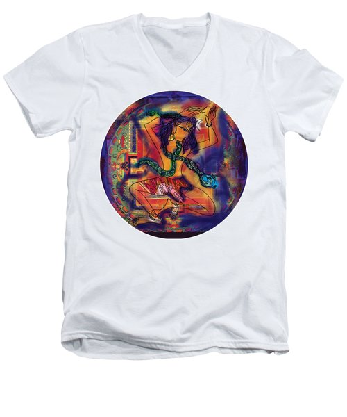 Dancing Shiva Men's V-Neck T-Shirt