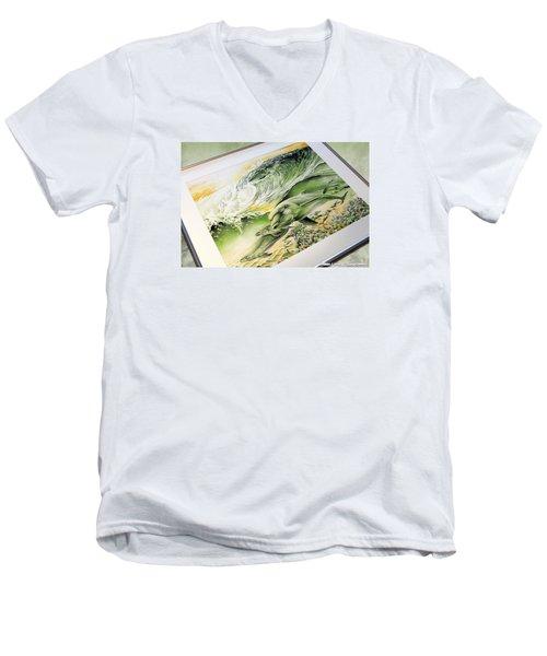 Dawn Patrol Men's V-Neck T-Shirt by William Love