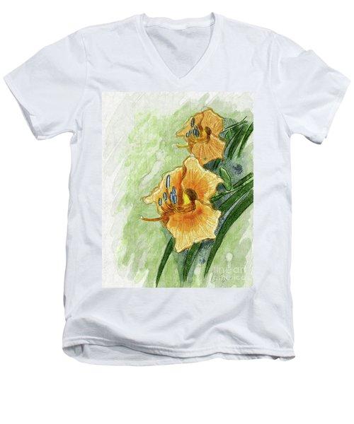 Daylily #2 Men's V-Neck T-Shirt