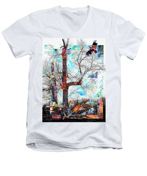 Dead Tree And Crow Men's V-Neck T-Shirt