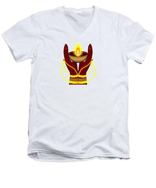 Deepa Men's V-Neck T-Shirt