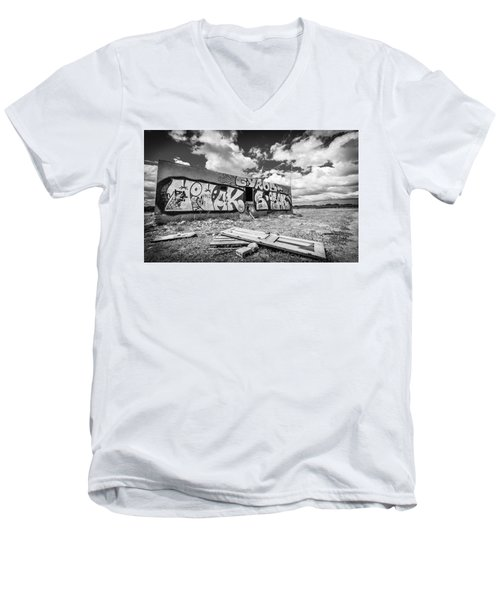 Derelict Building. Men's V-Neck T-Shirt