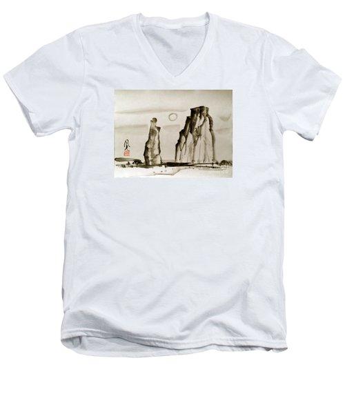 Desert 15050050fy Men's V-Neck T-Shirt