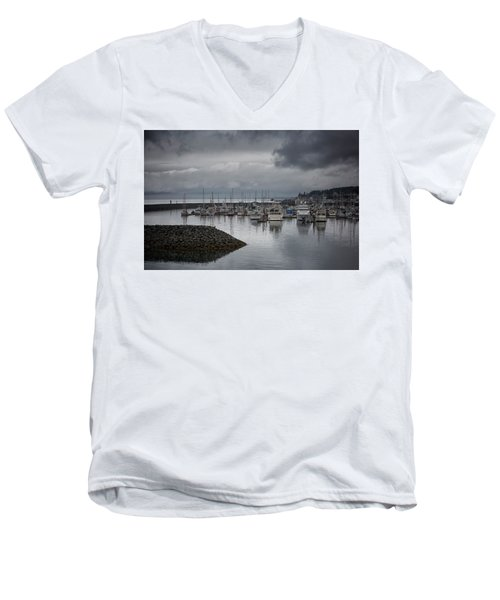Discovery Harbour Men's V-Neck T-Shirt by Randy Hall