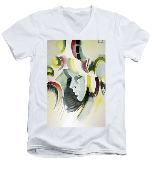 Dolor Men's V-Neck T-Shirt by Sam Sidders