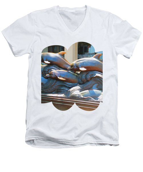 Dolphin Statues Near Boston Aquarium Wonderful Tour Of Finest American   Navinjoshi Fineartamerica Men's V-Neck T-Shirt