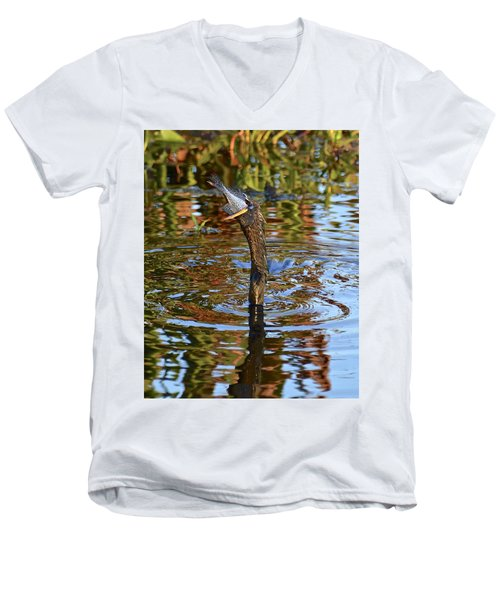 Down The Hatch Men's V-Neck T-Shirt