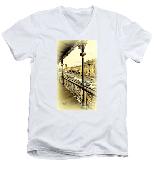 Downtown Daylesford II Men's V-Neck T-Shirt by Chris Armytage
