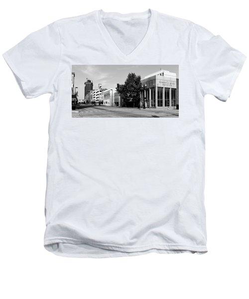 Downtown Huntington West Virginia Men's V-Neck T-Shirt by L O C