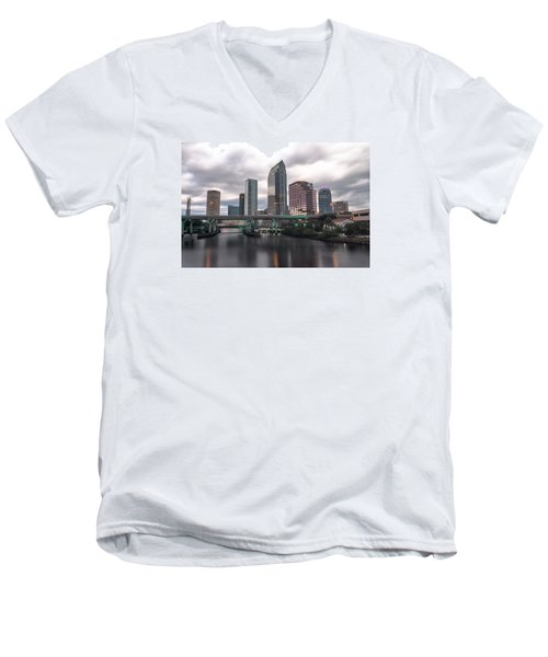 Downtown Tampa Men's V-Neck T-Shirt