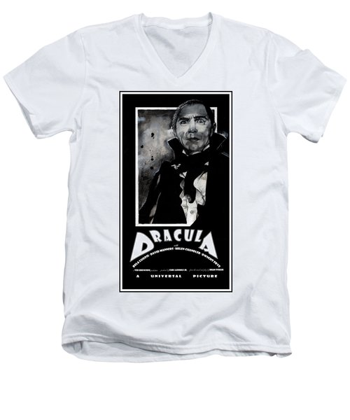 Dracula Movie Poster 1931 Men's V-Neck T-Shirt