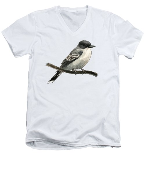 Eastern Kingbird Men's V-Neck T-Shirt