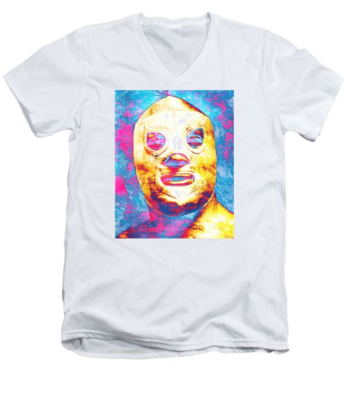 El Santo  Men's V-Neck T-Shirt by J- J- Espinoza