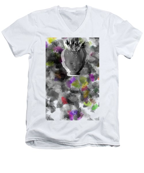 Exploding Head Men's V-Neck T-Shirt