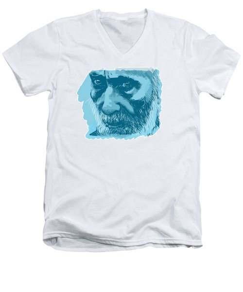 Eyes Men's V-Neck T-Shirt by Antonio Romero