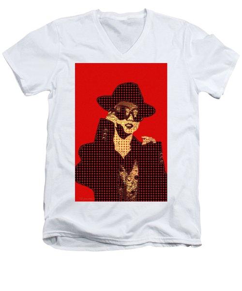 Fading Memories - The Golden Days No.1 Men's V-Neck T-Shirt by Serge Averbukh